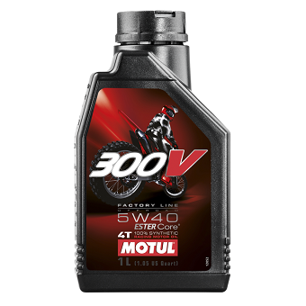 Моторное масло Motul 300V 4T FL Off Road 5W-40 Ester Core