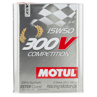 Моторное масло Motul 300V Competition ESTER Core SAE 15W-50