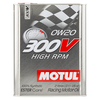Моторное масло Motul 300V High RPM ESTER Core SAE 0W-20
